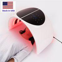 новая модель Stock в США Складного 7 Свете LED маска для лица PDT света для кожи машины Терапии красоты для кожи лица Омоложения