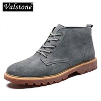 Bottes Valstone Qualité Véritable Cuir pour homme Automne Autorn-up Casual Appartements Chaussures Haut-Top Chaussures Homme Respirant Mâle Botas de Hombre