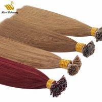 U Tip Nail Extension Hair Pair Bearbunders Черно-коричневый светло-коричневый цвет Предварительно-склеиванные волосы для волос 100strands
