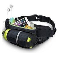 Cep telefonu poşetleri, su şişesi tutucu ile çalışan fanny paketi, yürüyüş için ayarlanabilir kemer, bisiklet
