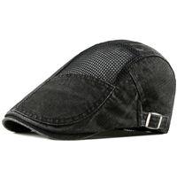 القبعات الصيف الجوف تصميم الرجال القبعات في الهواء الطلق لون نقي المرأة شبكة قبعات قابل للتعديل الرجعية قبعة البيسبول متعدد الألوان قبعة الشمس بالجملة