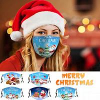 Maschere per maschera di natale 3D Maschera viso stampata includono PM2.5 Maschera PM2.5 Anti Dust Snowflake Snowflake Christmas Cover Lavabile Riutilizzabile Maschere per feste FY4224