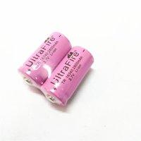 고품질 분홍색 UltreFire 배터리 CR123A / 16340 2800mAh 3.7V 충전식 리튬 배터리 무료 배송