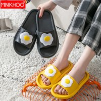 2020 Summer Femmes Chaussons Accueil Femme Oeuf Lovers Chaussures Femme chaussons salle de plat Hommes Chaussures Jelly Indoor
