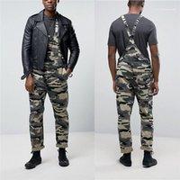 Kargo Pantolon Kamuflaj Baskılı Erkek Tasarımcı pantolonları Tulumlar Günlük Sade Stil Gevşek Düz Pantolon Moda Erkekler Soğuk