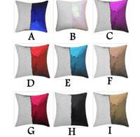 Nuevos estilos de sublimación lentejuela cubierta de almohada superior calidad funda de almohada mágica funda de almohada decoración amplia aplicabilidad para regalos