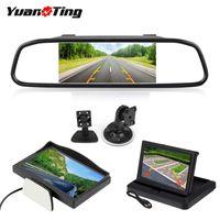 Parcheggio Yuanting LCD Car TFT Desktop / pieghevole / monitor dello specchio di 5 '' Il video PAL / NTSC Auto per telecamera per la retromarcia Backup