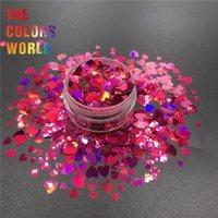 Tırnak Glitter TCT-391 Kalp Şekli Sevgililer Günü Sanat Dekorasyon Makyaj Dövme Tumblers Craft DIY Accessoires Festivali Parti