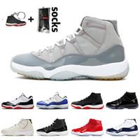 nike air jordan 1 retro 1 2020 Yeni Gri 11 11'leri jumpman erkek basketbol ayakkabıları Soğuk Retro Concord 11 Cap ve Önlük 25. Yıl Gümüş kadın spor ayakkabıları Bred