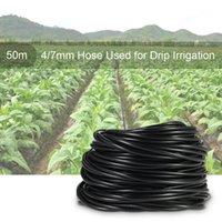 급수 장비 4 / 7mm 20 / 50m 호스 정원 튜브 마이크로 관개 식물 냄비 물방울 스프링클러 커넥터 튜브