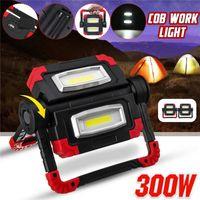 LED-bewegliche Scheinwerfer COB LED-Arbeitslicht Wiederaufladbare USB-Batterie im Freien Licht für Jagd Camping Latern
