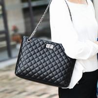 Catena elegante trapuntato grata di diamante borsa delle donne di moda classico del sacchetto del progettista della benna borsa a tracolla per Business Daily