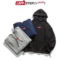 LAPPSTER-Youth Men Polar Fleece Harajuku Hooded Hoodies Embroidery Pullover Oversized Sweatshirts Korean Fashions Hoodies 200923