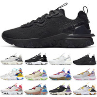 air max 270 react vision Erkekler Kadınlar Koşu Ayakkabıları tepki Bauhaus Optik Üçlü Siyah Beyaz Oreo Moda Erkek Trainer nefes Spor Açık Sneakers B ...