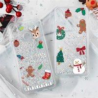 Caso líquido de Navidad para Huawei Honor 8X 8C 7A 9 10 P20 P30 P10 mate 10 20 Lite Pro Nova Para la cubierta del iPhone
