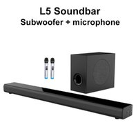 L5 altoparlante Bluetooth Subwoofer BASS microfono wireless Bluetooth per SoundBar Home TV Karaoke Sistema L5 SoundBar