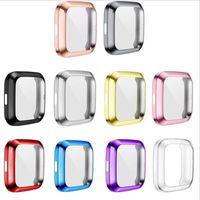 Weicher Überzug TPU Fall-Abdeckung für Fitbit Versa 2/1 Super Slim Vollschutz-Silikon-Stoßrahmen Protecto Smart Watch Zubehör