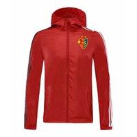 2020 FC Basel giacca con cappuccio a vento tute pullover di calcio con cappuccio giacca a vento attivi calcio sport invernali cappotto giacche da uomo