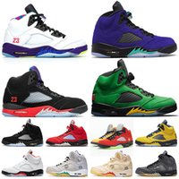 Nike Air Off White Jordan 5 Jodan Retro 5 5s 2020 Alternate Bel Grape 5s SE Oregon Jumpman 5 Damen Herren-Basketball-Schuhe SE Oregon Ducks Trainerturnschuhe