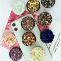 Glitter Bling Cell Phone Holder Glitter sparklinga coussin gonflable Grip Support Mont Douilles Tablettes supports pour iPhone XR XS Samsung