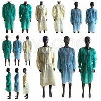 Dokumasız Koruyucu Giysi Tek İzolasyon Önlük Giyim Anti Toz Açık Koruyucu Giysi Tek Trençkotlar RRA3534 Takımları