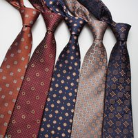 High-quality men's tie 8cm polka dot printed men's casual tie formal wedding tie jacquard woven ties