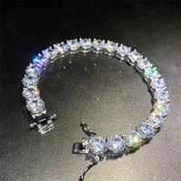Bracelets de tennis diamants glacé pour hommes d'or argent bracelets hip hop bijoux Bijoux de haute qualité 8mm zircon bracelet A127