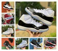Nouveau Jumpman bas blanc élevé 11 11s Maroon nuit chaussures de basket-ball de pantone pense 16 hommes de serpent blanc formateurs femmes baskets