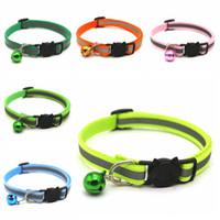 Полезные круглые зоомагазины для домашних животных Светоотражающие колокольчики с регулируемым размером размера Pet ожерелье для шеи