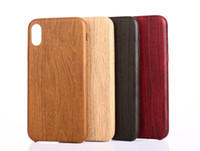 Luxury Retro Wood Grain Phone Cases Soft PU Back Cover For i...