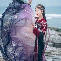 Hanfu mujeres Hada vestido tradicional china Ropa Mujer Año Nuevo Festival de traje Tang traje trajes del funcionamiento de la danza popular
