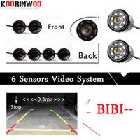 Koorinwoo double Core CPU Parking Capteurs 6 Radars avant Noir Parking alarme Sonde Parktronic voiture détecteur blanc argent noir