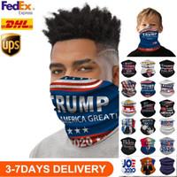 EEUU Stock Liquidación 2020 Máscaras Elección Trump Bufanda de ciclo unisex del pañuelo de la motocicleta magia bufandas al aire libre a prueba de polvo máscaras faciales Pañuelo