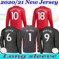 2020 2021 Sancho Martial Fernandes Rashford Sancho 20/21 Langarm Fussball Trikot Torwart Football Jerseys Hemd Uniform