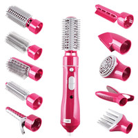 Comb Hair Brush 10 In 1 Electric Hair Curlers Multifunctiona...