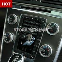 Interior Air Condition Knob Áudio botão da tampa para a Volvo XC60 S60 V60 V40 prata / vermelho / azul