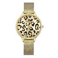 High-End женщины Ультратонкого водонепроницаемых женщин наручных часы сетка ремень леопардовые женщины Часы Трансграничный Взрыв Модель Поддержка Generatio