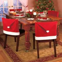 Sedia Natale Copertura Babbo Red Hat Chair Torna riguarda gli insiemi Cena Presidenza cap per natale di Natale casa Decorazione per feste nuovo arrivo