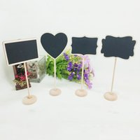 Estrela coração forma mini quadro de madeira lugar suporte cartão suporte para mesa de sobremesa wordpad titular da placa de mensagem para festa de casamento vt0432