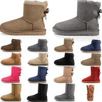 شعبية القوس في فصل الشتاء الأحذية التعادل إمرأة نصف الحذاء الكلاسيكي الأحذية في الكاحل السوداء الجوارب الرمادية الكستناء الأزرق الداكن الأحمر نساء فتاة الأحذية