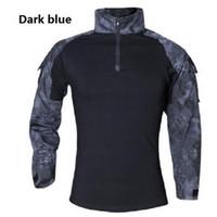 T-shirt da uomo 2021 Abbigliamento da marca Autunno Primavera Men Manica Lunga Tattica T-shirt Camouflage Camisa Masculina Camicia a secco rapido
