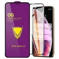 الجملة الغراء كاملة شاشة السينما الذهبي درع OG الزجاج المقسى للآيفون X إكسس ماكس برو 11 6S ماكس 7 8 بالإضافة إلى XR حامي الشاشة
