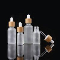 5 10 15 20G 젖빛 유리 dropper 병, 눈 DropperBamboo 뚜껑 흰색 고무 화장품 컨테이너와 30 ~ 50 ML 유리 에센셜 오일 병
