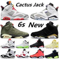 Economici New Hare DMP Chaussures 6 6s scarpe di pallacanestro degli uomini Cactus Jack Travis Scotts Media oliva donne Bred allenatori sportivi zapatos scarpe da ginnastica