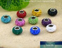 Multicolor résine strass Perles de haute qualité 925 Cristal en vrac en argent sterling en argile Perles Fit Bracelets Europe Bricolage Bijoux