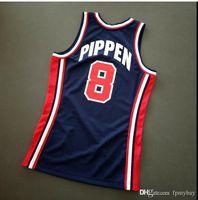 Özel Erkek Gençlik Kadın Vintage Scottie Pippen Mitchell Ness 92 ABD Koleji Basketbol Forması Boyutu S-4XL veya Özel Herhangi bir isim veya numara forma