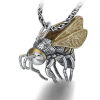 925 Sterlingsilber-Halskette Schmuck Bee Flügel Movable Love Fashion Halskette
