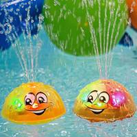 Bath Toy, spray de água Squirt Toy LED Light Up Float Brinquedos Banheira Duche Pool Bathroom brinquedo para o bebê da criança infantil Kid Água