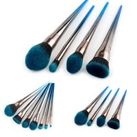 Niedrigerer Preis 4 / 7pcs Steigung-blauer Make-up-Pinsel-Set Professionelle Make-up Pinsel Make-up-Tool-Kits