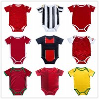 Bebê futebol jersey homem 2020 21 utd bambin 6-18 meses bola infantil squad bodysuit 20 21 Real Madrid rouxando roupas futbol